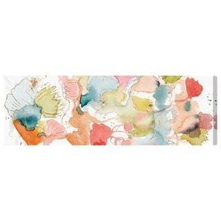 Oliver Gal 'My Wild Garden' Abstract Wall Art Canvas Print - Blue, Orange