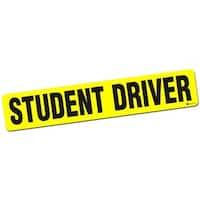 Zone Tech 'Student Driver' Yellow/Black Vehicle Bumper Magnet