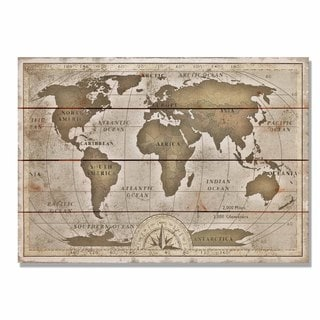 Old World Map 20x14 Indoor/Outdoor Full Color Cedar Wall Art