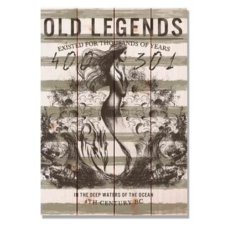 Old Legends Mermaid 14x20 Indoor/Outdoor Full Color Cedar Wall Art