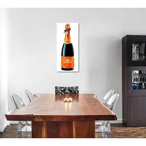 Oliver Gal 'Parisian Luxe Champagne Tall' Drinks and Spirits Wall Art Canvas Print - Orange, Black