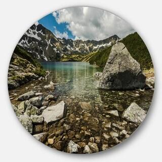 Designart 'Pond in Five Lakes Valley' Landscape Round Wall Art