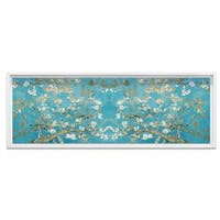 Oliver Gal 'Van Gogh in Blue Blossoms Pano Inspired' Framed Art