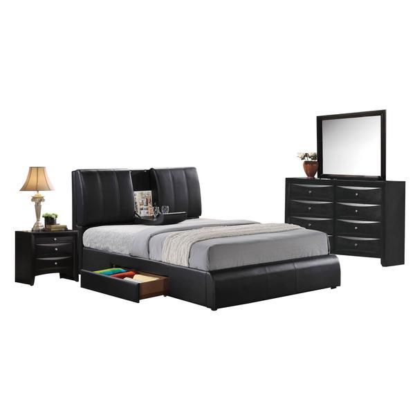 Acme Furniture Kofi Black 4-Piece Bedroom Set