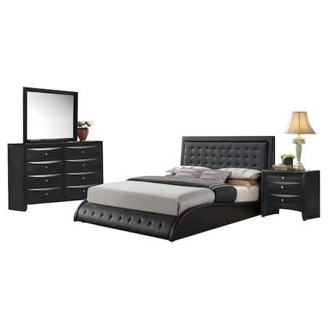 Black Acme Furniture Tirrel 4-Piece Bedroom Set