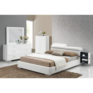 Acme Furniture Manjot White 4-Piece Storage Bedroom Set