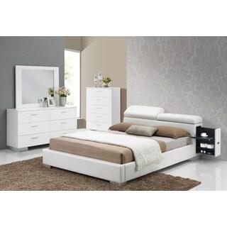 Acme Furniture Manjot White 4-Piece Storage Bedroom Set