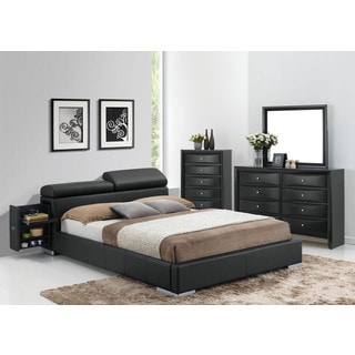 Acme Furniture Manjot 4-Piece Black Bedroom Set