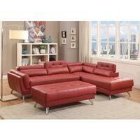 Alamo Bonded Leather 2-piece Sectional Sofa Set