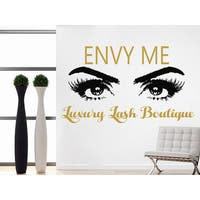 Luxury Lash Boutique Quote Beauty Salon Decor Eyes Makeup Cosmetic Hairdressing Sticker Decal size 33x45 Color Black