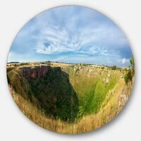 Designart 'Pulo Di Altamura Panorama' Landscape Disc Metal Artwork