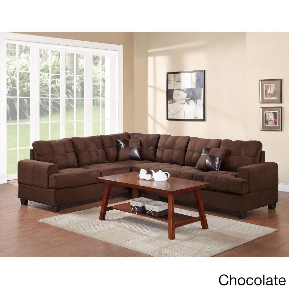 Mesquite 2-piece Sectional Sofa Set (Brown) (Microfiber)
