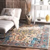 The Curated Nomad Beulah Abstract Vintage Grey Rug (7'10 x 11')