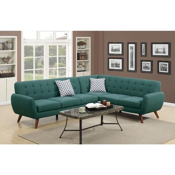 Shop Crystal 2-piece Mid Century Sectional Sofa Set
