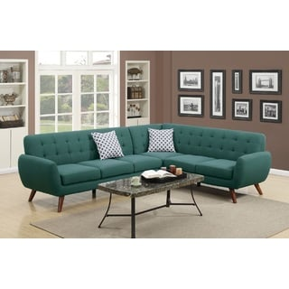 Crystal 2-piece Mid Century Sectional Sofa Set