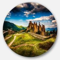Designart 'Belogradchik Fortress and Cliffs' Landscape Disc Metal Artwork