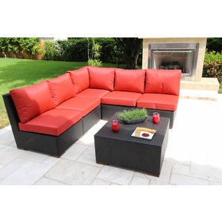 Andover 6 Pc. Sectional Seating Set - Olefin Fabric