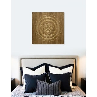 Oliver Gal 'Mandala Foil and Natural Wood' Canvas Art