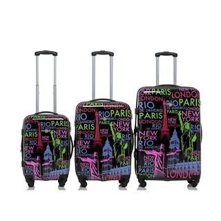 Rivolite World Place 3-piece Expandable Hardside Spinner Luggage Set