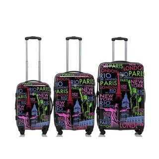 Rivolite World Place 3-piece Expandable Hardside Spinner Luggage Set