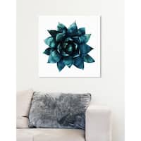 Oliver Gal 'Suculent' Canvas Art - TEAL