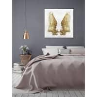 Oliver Gal 'Golden Wings Light' Canvas Art - GOLD