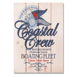 Coastal Crew Boating 14x20 Indoor/Outdoor Full Color Cedar Wall Art