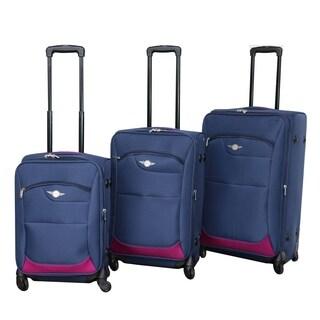 Rivolite 3-piece Lightweight Expandable Spinner Luggage Set