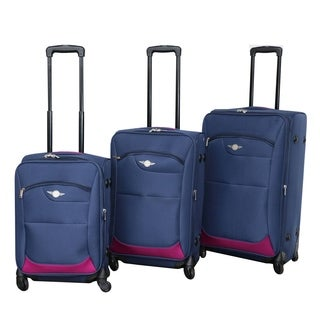 Rivolite 3-piece Lightweight Expandable Spinner Luggage Set