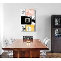 Oliver Gal 'Classic Perfume Stacked' Canvas Art - Black