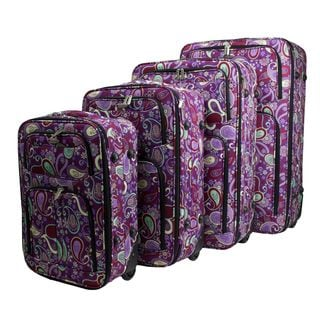 Dumont Paisley 4-piece Expandable Lightweight Rolling Luggage Set