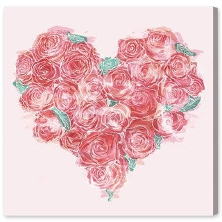 Oliver Gal 'Heart of Rose' Canvas Art