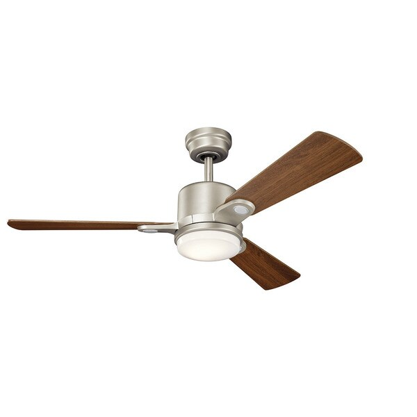 Kichler lighting celino collection 48 inch brushed nickel led kichler lighting celino collection 48 inch brushed nickel led ceiling fan aloadofball Image collections