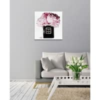 Oliver Gal 'Dawn Bouquet' Fashion Florals Gallery Wrapped Canvas Art - Pink