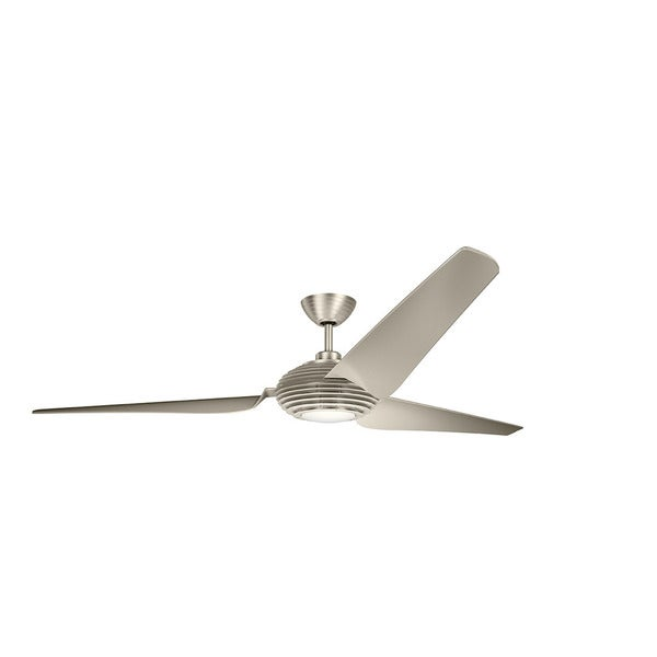 84 inch ceiling fan living room kichler lighting voya collection 84inch brushed stainless steel led ceiling fan shop