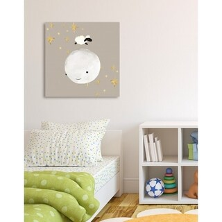Oliver Gal 'Sheep Jumping Over The Moon' Canvas Art
