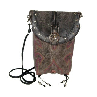 Leather Cowboy Boot Hipster Crossbody Handbag