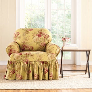Sure-Fit Ballad Bouquet Armchair T-Cushion Skirted Slipcover (As Is Item)