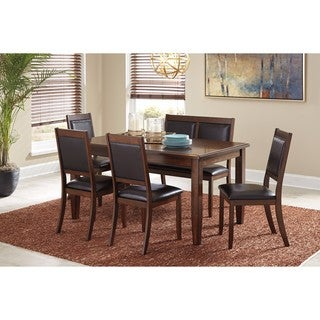 Signature Design by Ashley Meredy Brown 6-Piece Dining Room Table Set