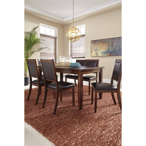Signature Design by Ashley Meredy Brown 6-Piece Dining Room Table ...