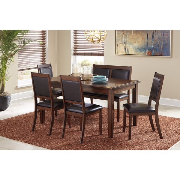 Signature Design By Ashley Meredy Brown 6 Piece Dining Room Table Set