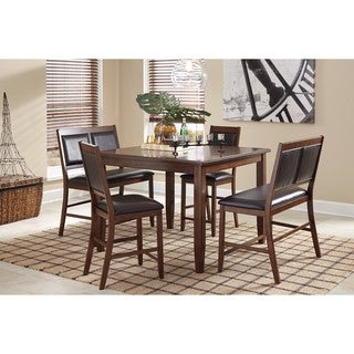 Signature Design by Ashley Meredy Brown 5-Piece Counter Table Set