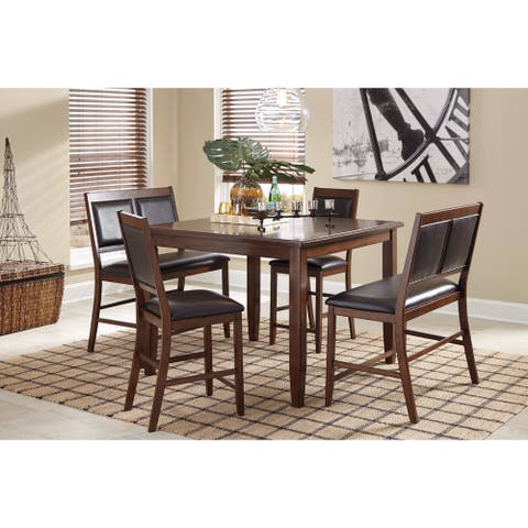 Meredy Brown 5-Piece Counter Table Set