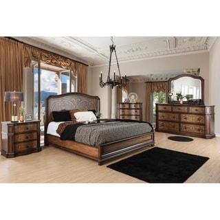 Furniture of America Palms Wooden Laser Cut Warm Chestnut 6-drawer Chest