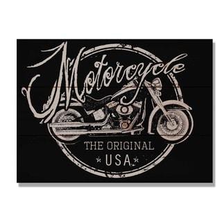 Motorcycle The Original 15x11 Indoor/Outdoor Full Color Cedar Wall Art