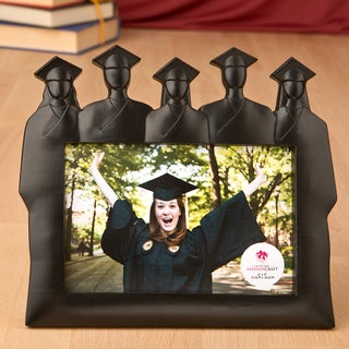Black Poly Resin Graduation Silhouette Group Frame