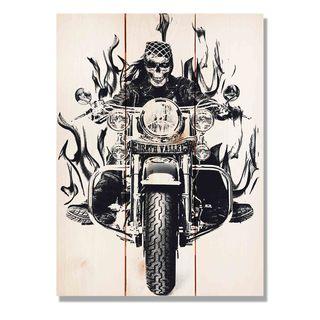 Death Valley Bike 11x15 Indoor/Outdoor Full Color Cedar Wall Art