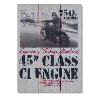45 Class Engine 11x15 Indoor/Outdoor Full Color Cedar Wall Art