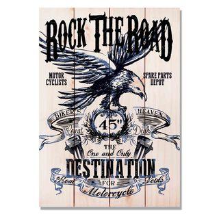 Rock The Road 14x20 Indoor/Outdoor Full Color Cedar Wall Art