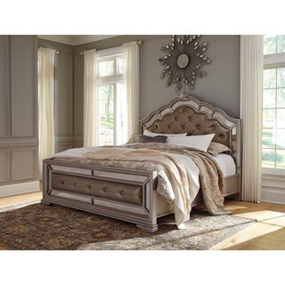 Signature Design by Ashley Birlanny Silver Upholstered Headboard